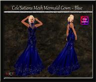 Cele'Sations Mermaid Mesh Gown ~ Blue [ Maitreya Belleza TMP Eve Slink ]