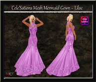 Cele'Sations Mermaid Mesh Gown ~ Lilac [ Maitreya Belleza TMP Eve Slink ]