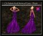 Cele'Sations Mermaid Mesh Gown ~ Purple [ Maitreya Belleza TMP Eve Slink ]