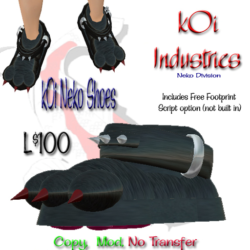 ~kIB~ kOi Neko Shoes - Bonus pawprint script