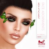Limited item: Oceane - Butterflies 2 Face Adornments - Green