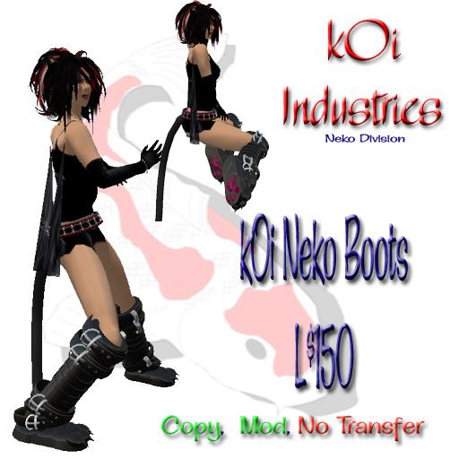 ~kIB~ kOi Neko Boots - Bonus pawprint script