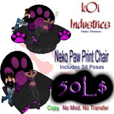 Neko Pawprint Chair 2 pose
