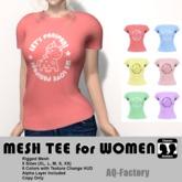 *AQF* Mesh Womens Panipani T-shirt
