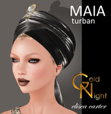 "Maia Turban black ""Elisea Carter"""