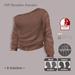=R-Solution= Off Shoulder Sweater BEIGE