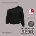 =R-Solution= Off Shoulder Sweater BLACK