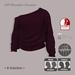 =R-Solution= Off Shoulder Sweater BORDO