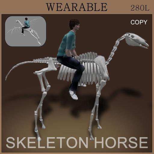 [TomatoPark] DEMO Wearable Skeleton Horse (ride pose)