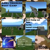 Army Boot camp trianing set (crate)