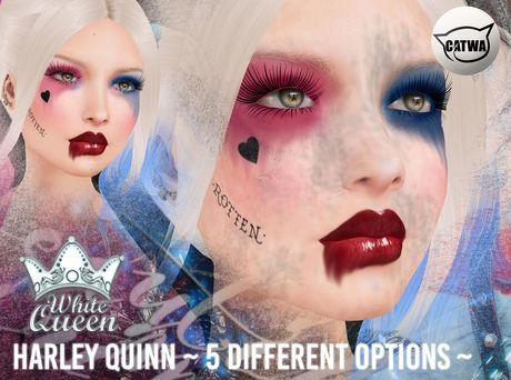 ::White Queen:: - Harley Quinn eyeshadow - Catwa
