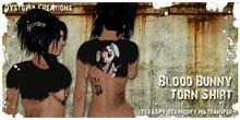 .dystopia. blood bunny torn shirt