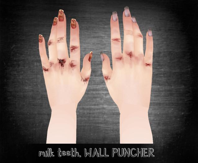 milk teeth. WALL PUNCHER for Slink Hands & LL Hands