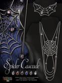 EarthStones Spider Cascade Necklace Back Necklace