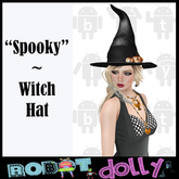 "Robot Dolly - ""Spooky"" - Witch Hat"