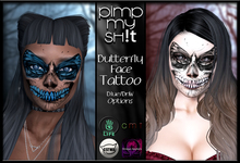 PMS - Butterfly Skeleton Face Tattoo
