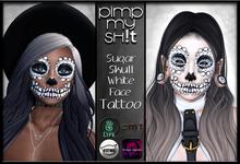 PMS - Sugar Skull Tattoo - White