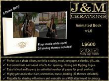 J&M Creations Animated Book v1.0 (create photo album, catalog, novel, etc)