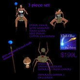 Spider chair /Wizard staff giver / cauldron set(crate)