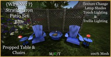 {Why Not?}Strathcarron Patio Set Blue-Boxed
