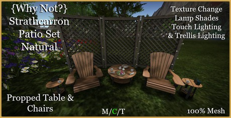 {Why Not?}Strathcarron Patio Set Natural-Boxed