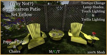 {Why Not}Strathcarron Patio Set Yellow-Boxed