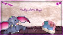 Daddy's Little Angel Wall Word