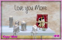 Love You More Wall Words