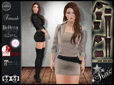 Stars - High Boots & jacket women outfit - Maitreya clothes, Slink, Belleza,Isis,Venus,Freya - Gabrielle 2