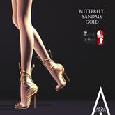 .AiShA. Butterfly Sandals Gold
