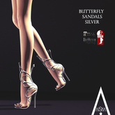 .AiShA. Butterfly Sandals Silver