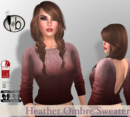 #b Heather Sweater Red Cedar Ombre