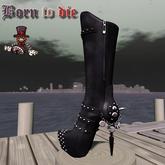 Boots Girl Biker - Mid Calf 1 - Mesh