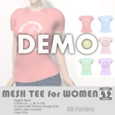 *AQF* Mesh Womens Panipani T-shirt DEMO