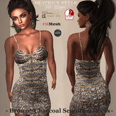 """""""BeatriceStyle"""" - Bronze/Charcoal  Sequined Dress Mesh"""