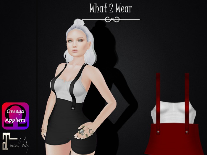 .::What2Wear::. Overalls - B/R - with Top