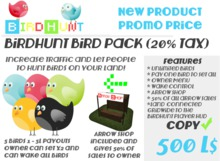 BirdHunt Owner Bird Pack (20% tax)