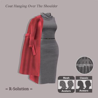 =R-Solution= Coat Hanging Over Shoulder PEACH