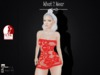 .::What2Wear::. Mesh Lace Mini  Dress - Red
