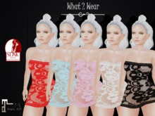 .::What2Wear::. Mesh Lace Mini Dress