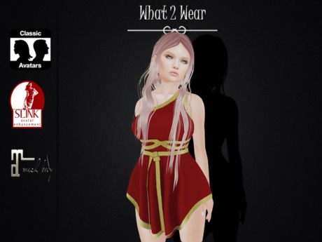 .::What2Wear::. Toga Dress Red