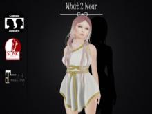 .::What2Wear::. Toga Dress White