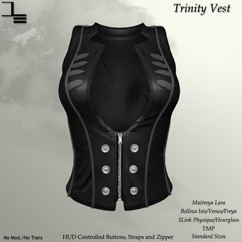 DE Designs - Trinity Vest - Black
