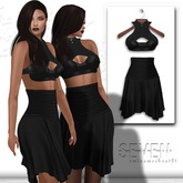 SEVEN - EMINA mesh OUTFIT (black)