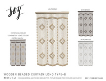 Soy. Wooden Beaded Curtain [Long-TypeB] Addme