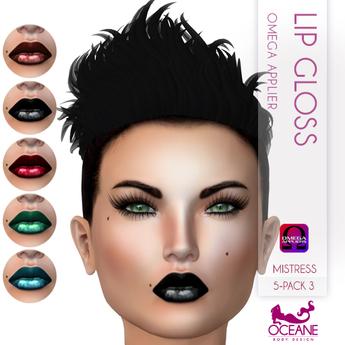 Oceane - Mistress Lip Gloss 5-pack 3 - Omega