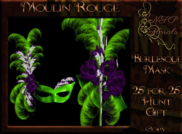 NSP Moulin Rouge Mask (Mardi Gras)