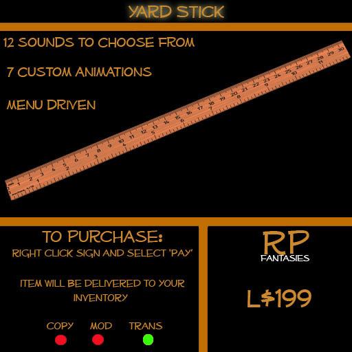 *RPF* Yard Stick Boxed