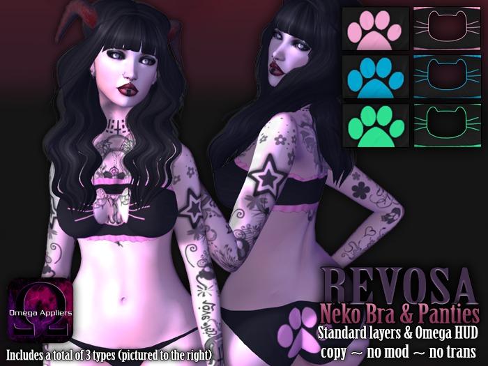 REVOSA Neko Bra & Panties set [with Omega]