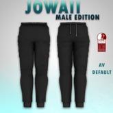 {Uniwaii} - Jowaii (Jogger pants) (Male edition) - Black